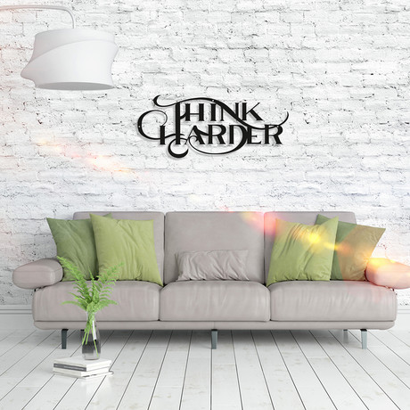 Metal Poster // Think Harder