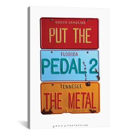 "Pedal 2 The Metal // Gregory Constantine (12""W x 18""H x 0.75""D)"