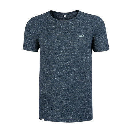 Biker T-Shirt // Dark Heather Denim (L)