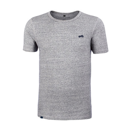 Biker T-Shirt // Heather Steel Gray (L)