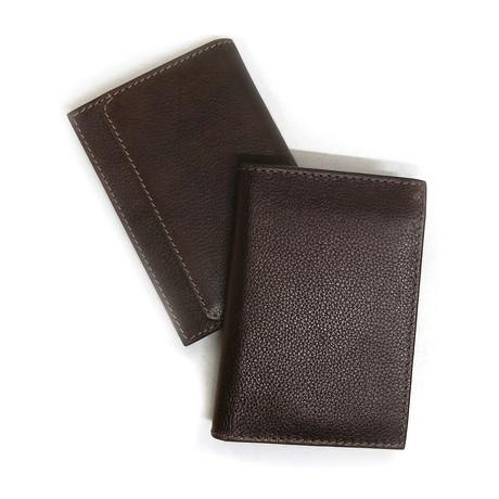 L-Fold Genuine Leather Wallet (Black)