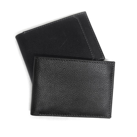 Stitched Slimster Genuine Leather Wallet (Cognac)