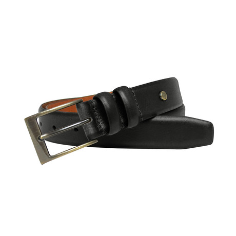 Bentley Genuine Leather Feather Edge Belt // Black (32)