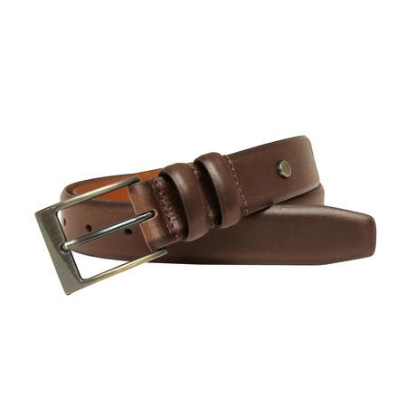 Bentley Genuine Leather Feather Edge Belt // Tan (32)