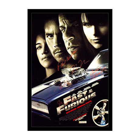 Framed Autographed Poster // Fast & Furious