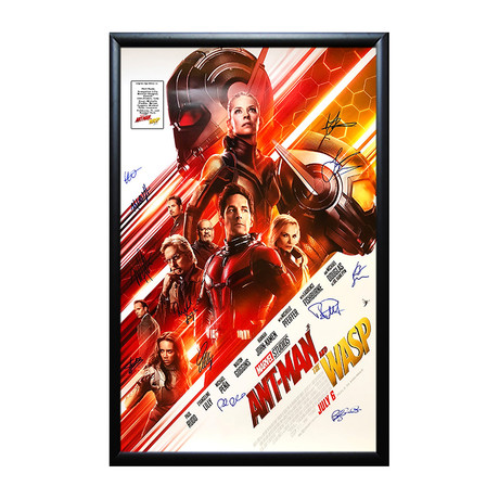 Framed Autographed Poster // Ant Man and The Wasp