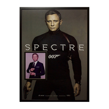 Framed Autographed Photo Insert // James Bond: Spectre