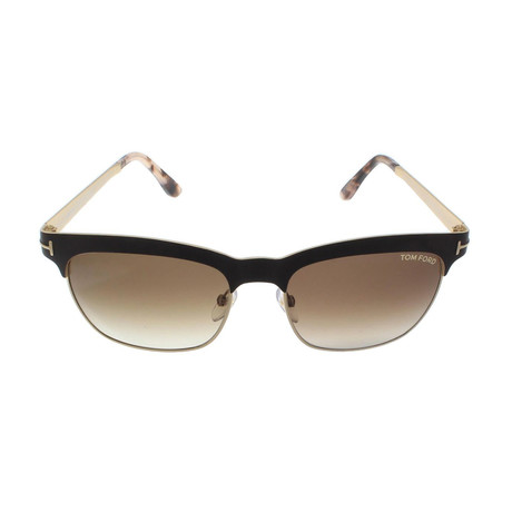 Tom Ford // Women's Elena Sunglasses // Brown + Brown Gradient