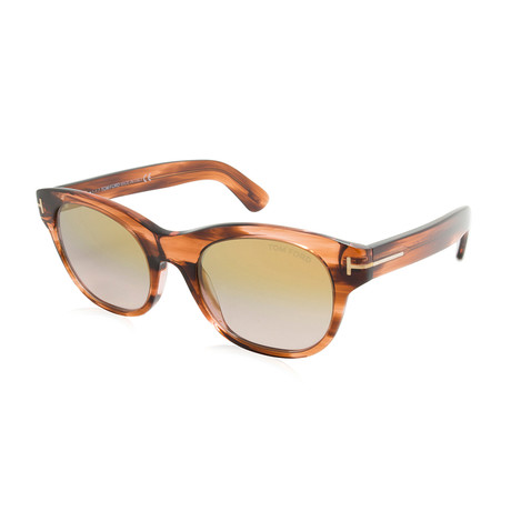 Tom Ford // Women's Alley Sunglasses // Light Havana + Brown