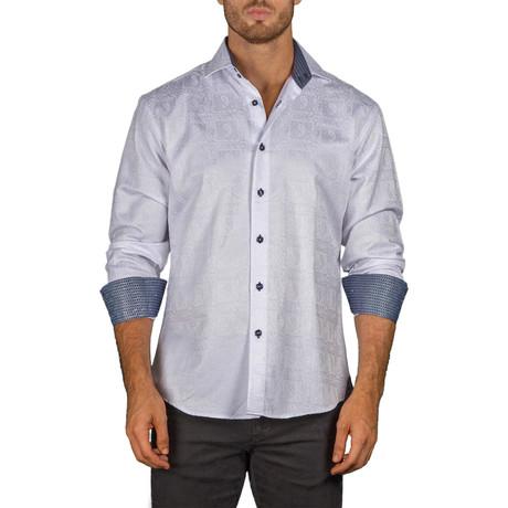 Renaldo Long-Sleeve Button-Up Shirt // White