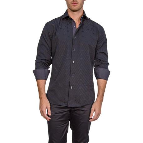 Kieth Long-Sleeve Button-Up Shirt // Black