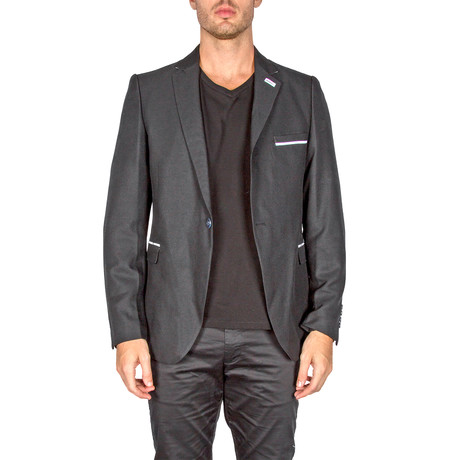 Lacy Evening Blazer // Black