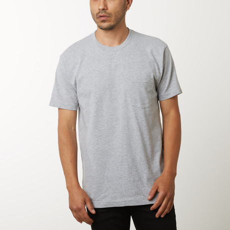 Pocket T-Shirt // Heather Grey