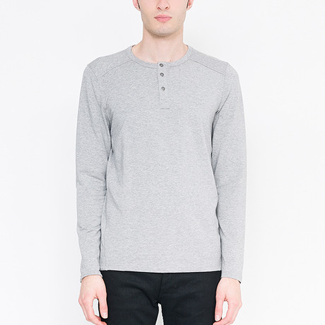Three Button Henley French Terry // Granite (S)