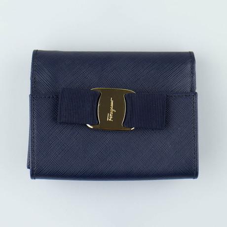 Vara French Mini Wallet // Oxford Blue