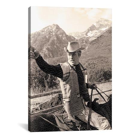 Robert Redford Riding A Horse // Globe Photos Inc. // Sepia