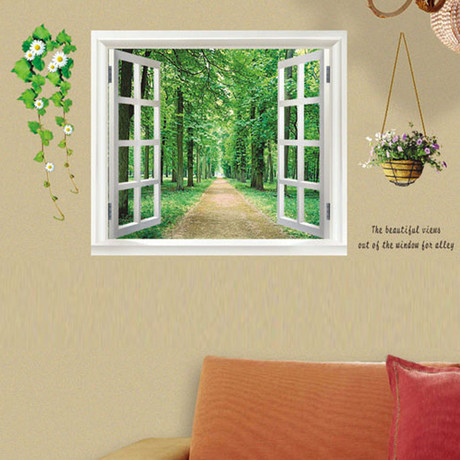 Green View Flower // Wall Sticker