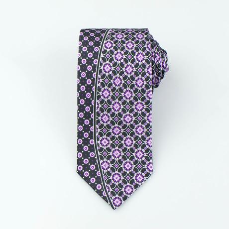 Jabari Tie // Black + Purple