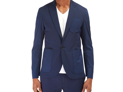 Photo of EFM Contemporary Active Street Style Coastal Blazer // Navy (US: 46) by Touch Of Modern