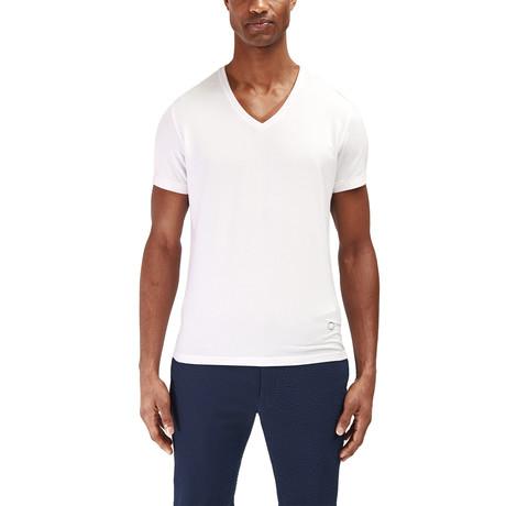 Traveler V Neck T-Shirt // White