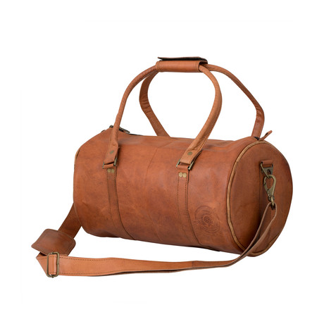 Leather Minimalist Gym Duffle