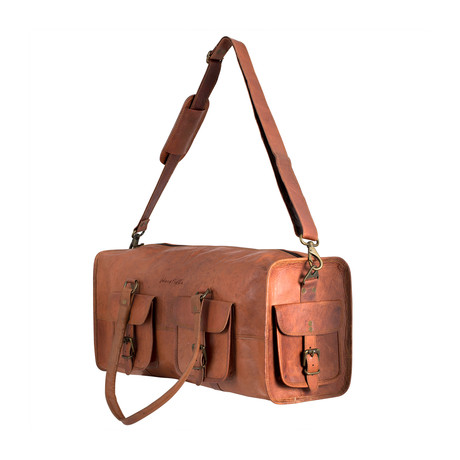 Leather Overhead Duffle