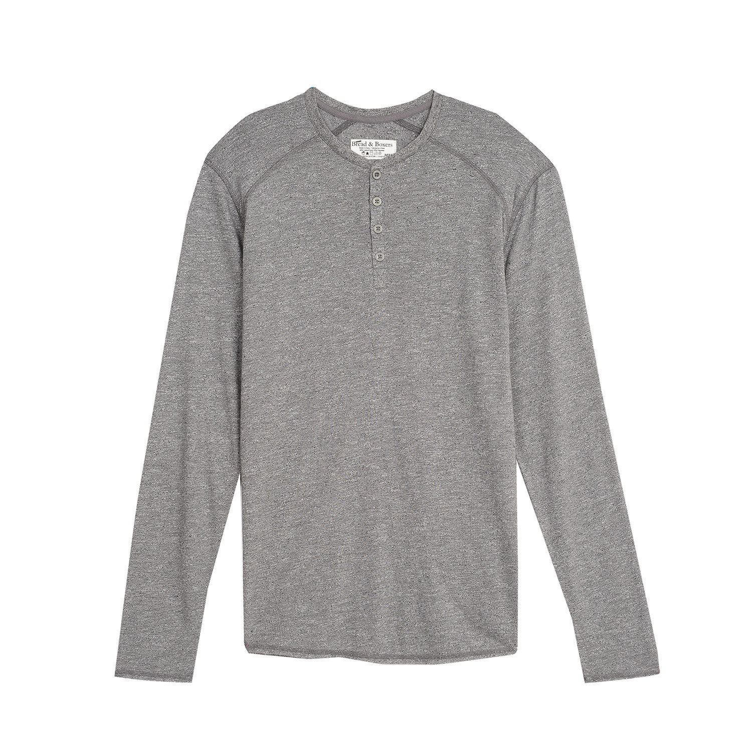 7d6f51ea LS Henley // Dark Grey (S) - Bread & Boxers - Touch of Modern