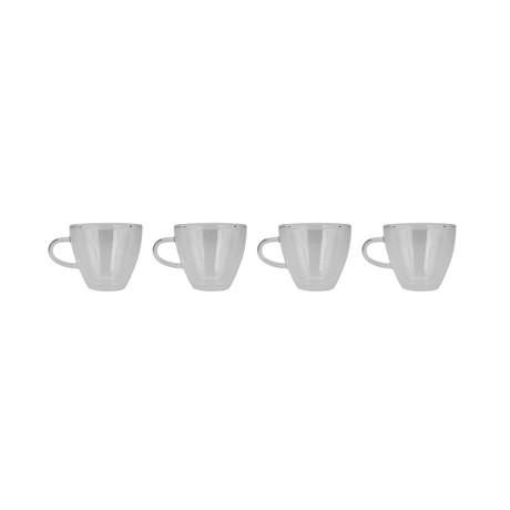 Modern Glass Coffee Cup // Set of 4