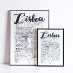 "Lisboa (Small: 8.25""W x 11.75""H)"