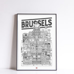 """Brussels (Small: 8.25""""W x 11.75""""H)"""