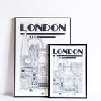 "London (Small: 8.25""W x 11.75""H)"