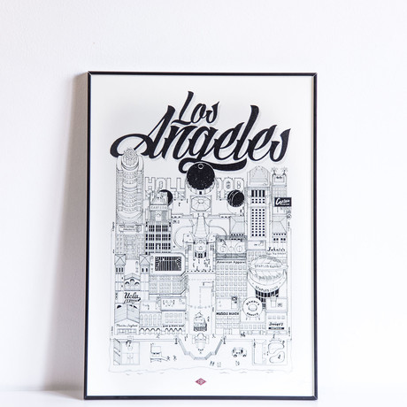 "Los Angeles (Small: 8.25""W x 11.75""H)"