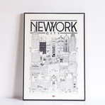 "New York (Small: 8.25""W x 11.75""H)"