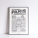"Paris (Small: 8.25""W x 11.75""H)"