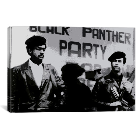 """Black Panther Party // Unknown Artist (18""""W x 12""""H x 0.75""""D)"""