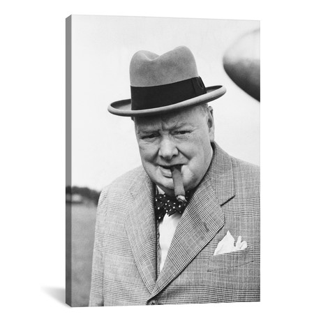 "Winston Churchill Portrait // Unknown Artist (18""W x 26""H x 0.75""D)"