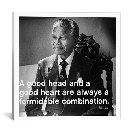 "Nelson Mandela Quote (18""W x 18""H x 0.75""D)"