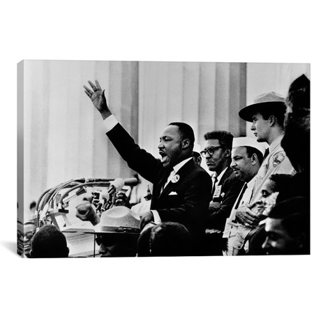 "Martin Luther King 'I HAVE A DREAM' Speech // Unknown Artist (26""W x 18""H x 0.75""D)"