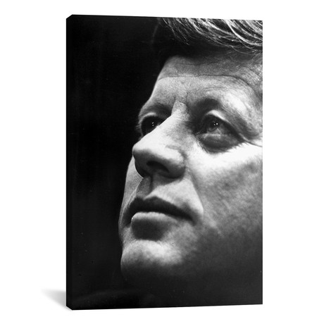 "President John F. Kennedy // Globe Photos, Inc. (18""W x 26""H x 0.75""D)"