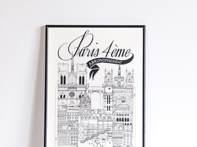 "Photo of Docteur Paper Prints That Take You On A Journey Paris IV (Small: 8.25""W x 11.75""H) by Touch Of Modern"