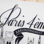 "Paris IV (Small: 8.25""W x 11.75""H)"