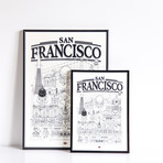 "San Francisco (Small: 8.25""W x 11.75""H)"