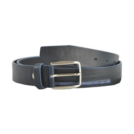 Osbert Smooth Leather Belt // Blue