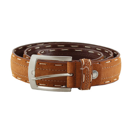 Dwayne Top Stitch Belt // Cognac