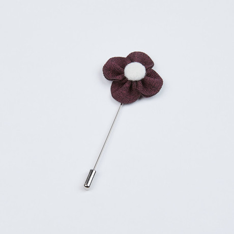 Textured Lapel Pin // Dusty Purple