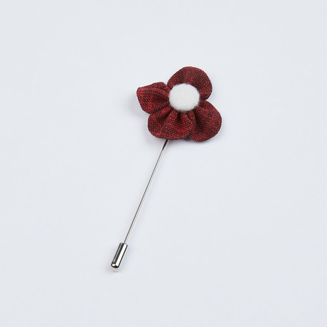Textured Lapel Pin // Dusty Red