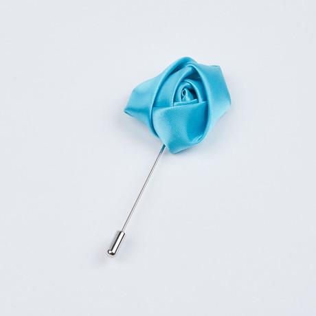 Rose Lapel Pin // Sky
