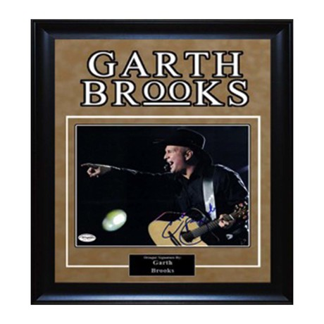 Framed Autographed Artist Series // Garth Brooks