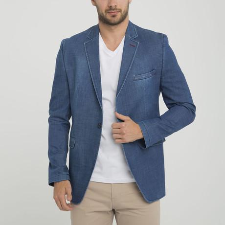 Erin Oversized Blazer Jacket // Dark Blue (S)
