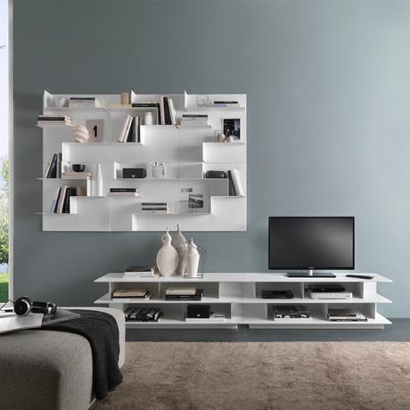 Opera Wall Bookcase // White